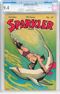 Sparkler Comics #37 Rockford pedigree (United Features Syndicate, 1944) CGC NM 9.4 Off-white pages