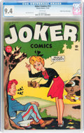 Joker Comics #13 Mile High pedigree (Timely, 1943) CGC NM 9.4 White pages