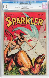 Sparkler Comics #39 Rockford pedigree (United Features Syndicate, 1944) CGC NM+ 9.6 Off-white pages