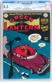 Green Lantern #38 Mile High pedigree (DC, 1949) CGC VF+ 8.5 White pages