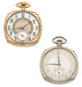 Timepieces:Pocket (post 1900), Illinois & Waltham 12 Size Open Face Pocket Watches. ...(Total: 2 Items)