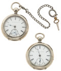 Timepieces:Pocket (pre 1900) , Two Elgin's 18 Sizes Key Wind Pocket Watches Runners. ... (Total: 2 Items)