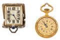 Timepieces:Other , Purse Watch & Sheffield Pocket Watch For Parts Or Repair. ...(Total: 2 Items)