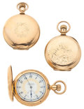 Timepieces:Pocket (post 1900), Two Elgin's & One Waltham Hunter's Case Pocket Watches. ... (Total: 3 Items)