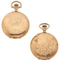 Timepieces:Pocket (post 1900), Two Waltham's 15 Jewels Hunter's Cases. ... (Total: 2 Items)