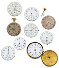 Timepieces:Other , A Lot Of Nine Watch Movements. ... (Total: 9 Items)