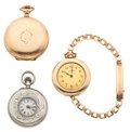 Timepieces:Pocket (post 1900), Two Waltham's & One Swiss Pocket Watches Runners. ... (Total: 3Items)