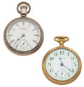 Timepieces:Pocket (post 1900), Waltham and New Era Open Face Pocket Watches. ... (Total: 2 Items)