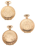 Timepieces:Pocket (post 1900), Three Ornate O Size Hunters Cases. ... (Total: 3 Items)
