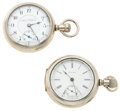 Timepieces:Pocket (post 1900), Waltham & Illinois 18 Size Pocket Watches Runners. ... (Total: 2 Items)