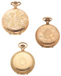 Timepieces:Pocket (post 1900), Three Hunters Case Watches. ... (Total: 3 Items)