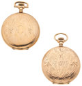 Timepieces:Pocket (post 1900), Elgin & Hampden 15 Jewels Hunter's Case Pocket Watches Runners.... (Total: 2 Items)