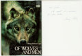 Books:Natural History Books & Prints, Barry Holstun Lopez. INSCRIBED. Of Wolves and Men. New York: Charles Scribner's Sons, 1978. Later printing. Insc...