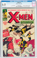 Silver Age (1956-1969):Superhero, X-Men #1 (Marvel, 1963) CGC FN 6.0 Off-white to white pages....