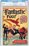 Silver Age (1956-1969):Superhero, Fantastic Four #4 (Marvel, 1962) CGC VF- 7.5 Off-white to white pages....
