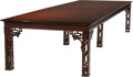 Furniture, A CHIPPENDALE-STYLE MAHOGANY DINING OR CONFERENCE TABLE, 20th century. 31 x 181 x 55 inches (78.7 x 459.7 x 139.7 cm). WEI...
