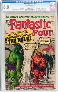 Fantastic Four #12 (Marvel, 1963) CGC VF 8.0 Off-white to white pages