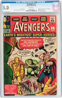 The Avengers #1 (Marvel, 1963) CGC VG/FN 5.0 White pages