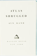 Books:Literature 1900-up, Ayn Rand. Atlas Shrugged. New York: Random House, 1957.First printing. Octavo. Publisher's original green cloth...