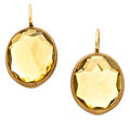 Estate Jewelry:Earrings, Rock Crystal Quartz, Gold Earrings, Pomellato. ...