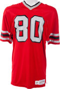 Football Collectibles:Uniforms, 1981 Junior Miller Game Worn Atlanta Falcons Jersey, MEARS A10....