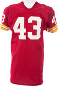 Football Collectibles:Uniforms, 1971-76 Larry Brown Game Worn Washington Redskins Jersey, MEARS A10....