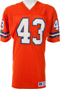 Football Collectibles:Uniforms, 1986 Steve Foley Game Worn Denver Broncos Jersey, MEARS A10....
