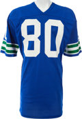 Football Collectibles:Uniforms, 1981 Steve Largent Game Worn Seattle Seahawks Jersey. ...