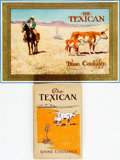 Books:Literature 1900-up, Dane Coolidge. The Texican and Embossed Color LithographPromotional Illustration by Maynard Dixon. Chicago: A. ... (Total:2 Items)