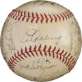 Autographs:Baseballs, 1936 New York Yankees Team Signed Baseball....