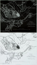 Books:Maps & Atlases, [Maps]. Positive and Negative Prints of Plan of the Siege of Charleston in South Carolina. Originally published in L...