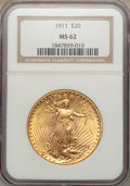 Saint-Gaudens Double Eagles: , 1911 $20 MS62 NGC. NGC Census: (946/977). PCGS Population(683/1237). Mintage: 197,200. Numismedia Wsl. Price for problemf...