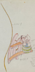 Animation Art:Color Model, Boat Builders Donald Duck Color Model Drawing #27A AnimationArt (Walt Disney, 1938)....