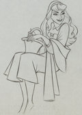 Animation Art:Production Drawing, Sleeping Beauty Briar Rose and Owl Production DrawingAnimation Art Group (Walt Disney, 1959).... (Total: 2 Original Art)