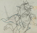 Animation Art:Production Drawing, Sleeping Beauty Prince Phillip and Samson Production Drawing #13 Animation Art (Walt Disney, 1959)....