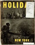 Books:Periodicals, [New York City]. Ted Patrick. editor. Holiday. Philadelphia: Curtis, 1949. Profusely illustrated travel magazine. Pu...