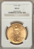 Saint-Gaudens Double Eagles: , 1910 $20 MS62 NGC. NGC Census: (3417/3417). PCGS Population(2235/3726). Mintage: 482,000. Numismedia Wsl. Price for proble...