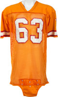 Football Collectibles:Uniforms, 1980-84 Lee Roy Selmon Game Worn Tampa Bay Buccaneers Jersey, MEARS A10....