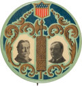 """Political:Pinback Buttons (1896-present), Taft & Sherman: The Rarer Mate to the 1¾"""" Bryan & Kern also Offered in this Auction. ..."""