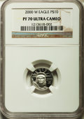 Modern Bullion Coins, 2000-W Platinum Eagle Set PR70 Ultra Cameo NGC. This set includes: Tenth-Ounce, Quarter-Ounce, Half-Ounce and One-Ounce Pl... (Total: 4 coins)