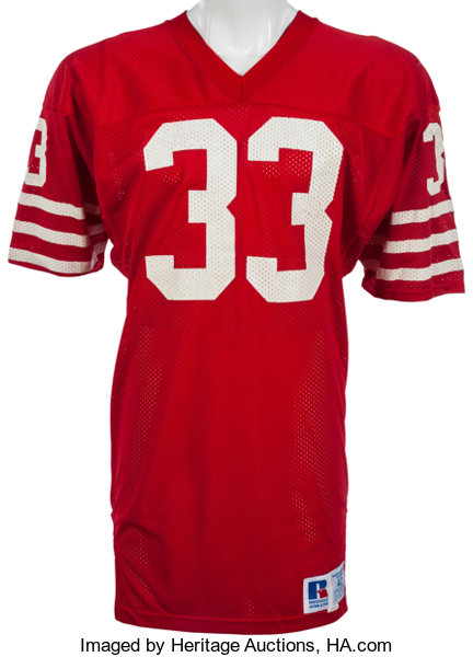 Game Heritage Roger Lot 82040 San Mears Worn 49ers Jersey Auctions Craig Francisco Mid 1980's