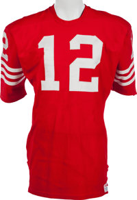 1f150a3ad 1970-73 John Brodie Game Worn San Francisco 49ers Jersey, MEARS A10