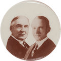 "Political:Pinback Buttons (1896-present), Harding & Coolidge: A Rare 1920 1¼"" Jugate Pinback...."