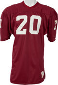 Football Collectibles:Uniforms, 1976-79 Billy Sims Game Worn, Unwashed Oklahoma Sooners Jersey, MEARS A10....