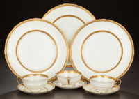 A FORTY-EIGHT PIECE ENGLISH PORCELAIN SERVICE IN THE BALMORAL PATTERN, Royal Doulton