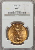 Saint-Gaudens Double Eagles: , 1913 $20 MS62 NGC. NGC Census: (1042/481). PCGS Population(886/1040). Mintage: 168,700. Numismedia Wsl. Price for problem ...