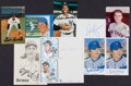 Autographs:Post Cards, Baseball Greats Signed Postcards And Index Cards Lot Of 19....