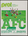 Football Collectibles:Programs, 1972 Immaculate Reception Steelers Vs. Raiders Game Program....