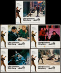 """Movie Posters:Crime, Dirty Harry (Warner Brothers, 1971). Lobby Cards (5) (11"""" X 14"""").Crime.. ..."""