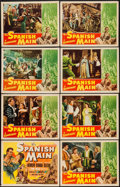 "Movie Posters:Adventure, The Spanish Main (RKO, 1945). Lobby Card Set of 8 (11"" X 14"").Adventure.. ... (Total: 8 Items)"